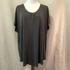Maurices Gray Blouse Raw Edges
